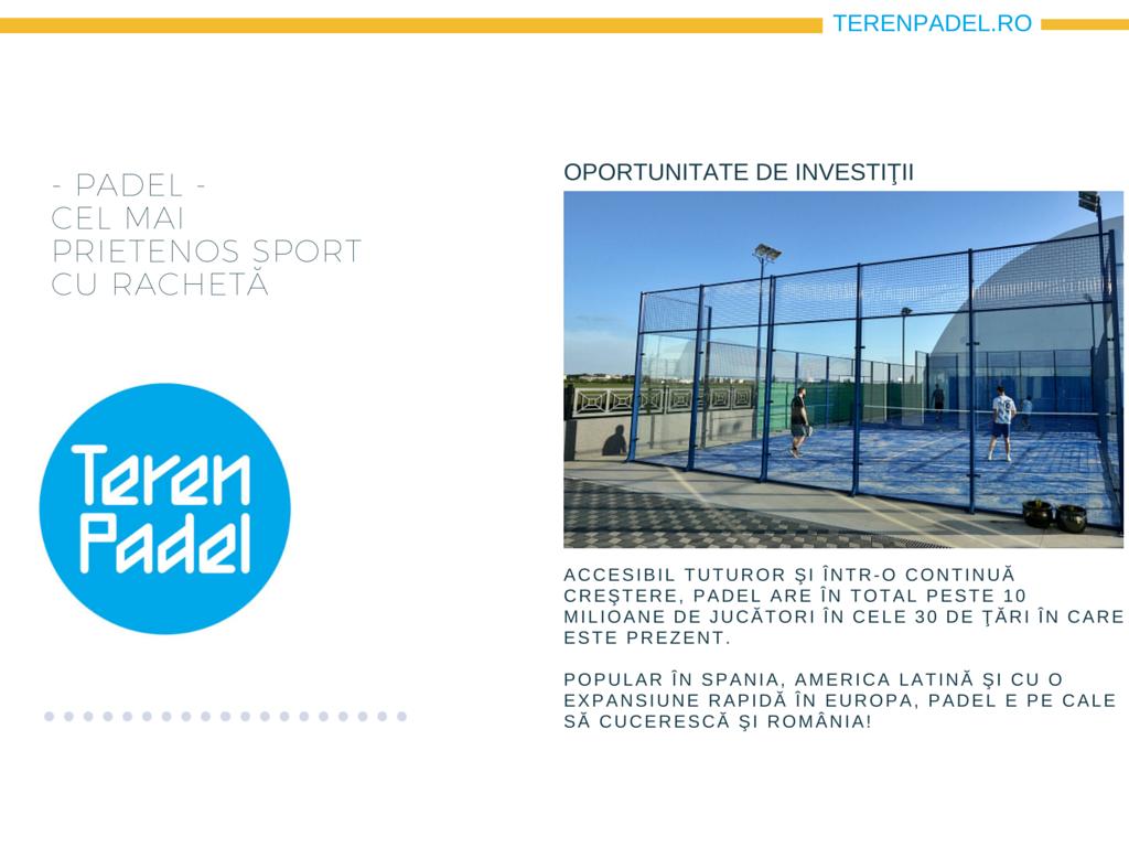 Prezentare TerenPadel.ro - Construcţii terenuri. Echipamente sportive. Organizare competiţii