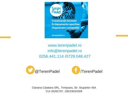 Prezentare TerenPadel.ro - Construcţii terenuri. Echipamente sportive. Organizare competiţii8