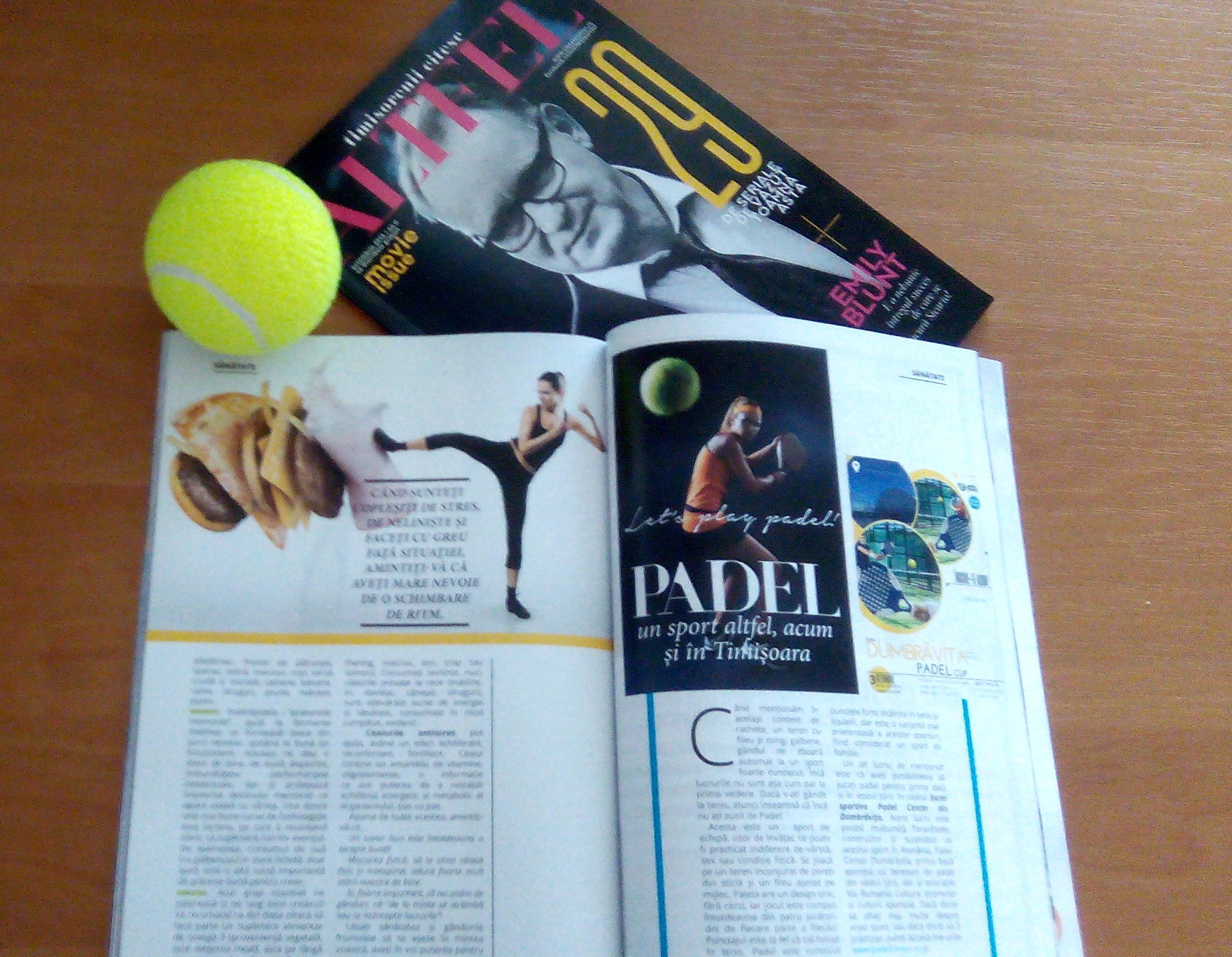 Padel in Revista Altfel