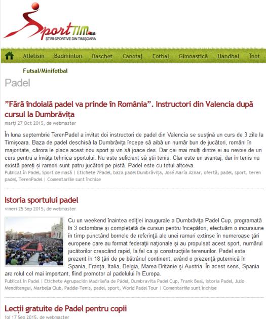 Sporttim.ro. website