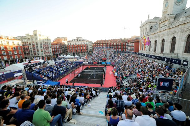 Imagine din cadrul Campionatului World Padel Tour